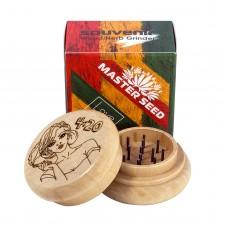 """Гриндер 4:20 Legalize """"Master Seed"""" дерево 54 мм сувенир"""